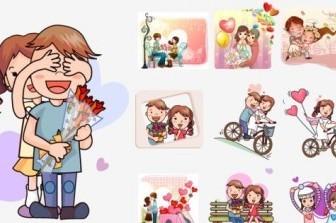 Vector Couple 03 Cartoon Vector Art