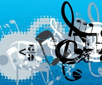 Vector Music Composition Vector Art