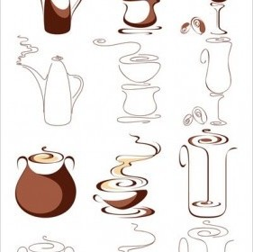 Vector 2 Coffee Abstract Vector Graphics