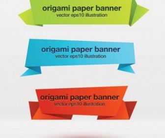 Vector Beautiful Origami Decorative Graphics 1 Vector Art