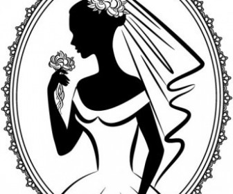Vector Bride Silhouette 05 Silhouettes Vector Graphics