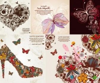 Vector Butterfly Pattern Vector Art