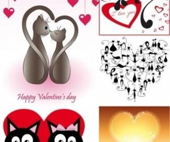 Vector Cat Love Heart Vector Art