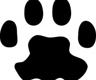 Vector Cat Paw Print Vector Clip Art