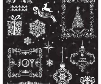 Vector Christmas Elements Vector Art