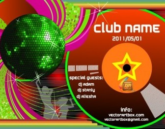 Vector Club Poster Template Vector Art