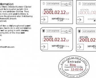 Vector Collection Of Passport Stamps (feaux) Vector Clip Art