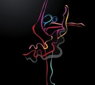 Vector Color Dance 04 Vector Art