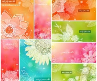 Vector Color Soft Floral 1 8p Background Vector Art