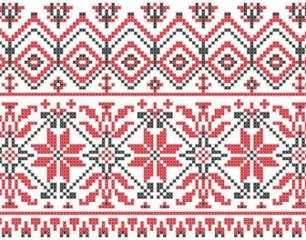 Vector Consecutive Knitting Patterns Background001 Background Vector Art