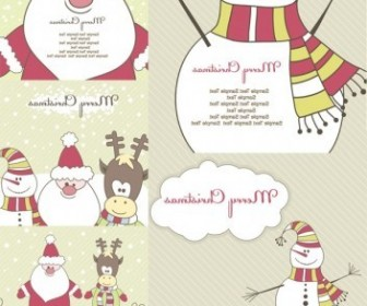 Vector Cute Illustration Christmas Vector Graphics