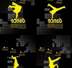 Vector Dance Posters Template Vector Art