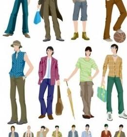 Vector Fashion Boy Vector Art