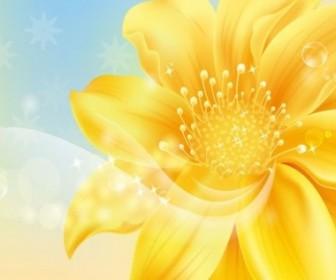 Vector Golden Graphic Flower Vector Art