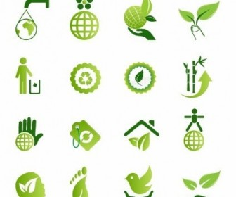 Vector Green Environmental Icons Icon Vector Graphics