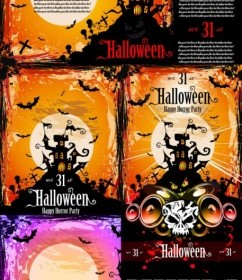 Vector Halloween Posters Fine Vector Art