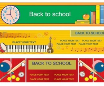 Vector Illustration Style Of Education Theme Design Templates 3 Vector Banner