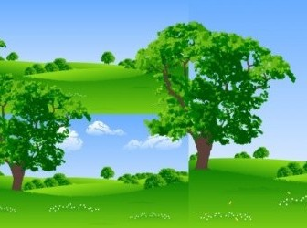 Vector Lawn Tree Plant Vector Graphics