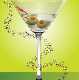 Vector Martini Cocktail Vector Art