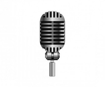 Vector Microphone Vector Art