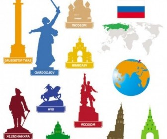 Vector National Landmarks Silhouette 05 Silhouettes Vector Graphics