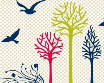 Vector New Set: Birds & Trees Vector Art