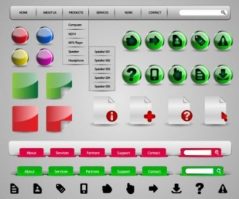 Vector Practical Elements 01 Web Design Vector Graphics