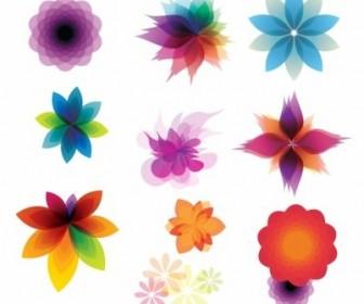 Vector Retro Floral Ornaments Abstract Vector Graphics
