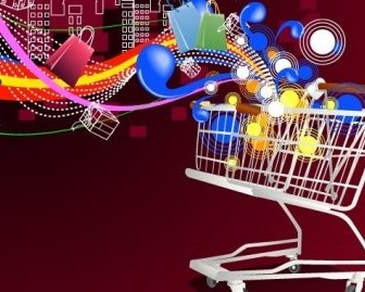 Vector Shopping Cart Vector Art