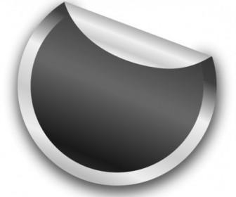 Vector Silver Sticker Vector Clip Art