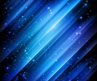 Vector Snow And Stars Winter Blue Background Vector Art