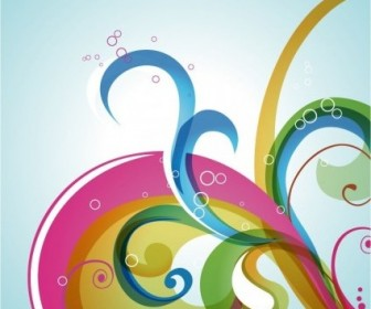 Vector Swirl Background Abstract Vector Graphics