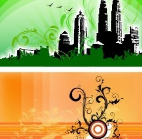 Vector Swirls Compositions Landscape Vector Graphics