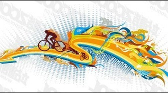 Vector The Trend Of Cycling Element Material Sport Vector Graphics