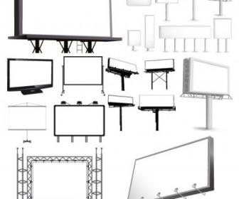 Vector Variety Types Of Outdoor Billboard Template Vector Art