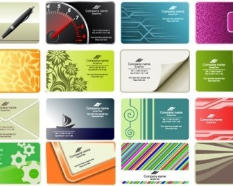 Business Card Templates Vector Cards