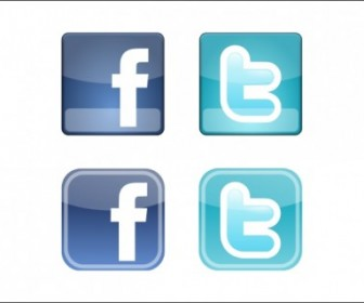 Facebook Twitter Icons Vector Pack