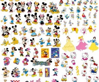Walt Disney Cartoon Clip Art Vector Collection