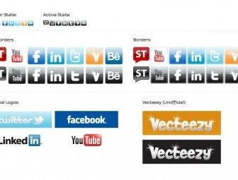 Social Media Icons and Starter Kit Vector Pack