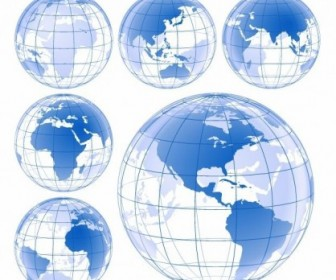 Blue Earth Globe Vector Pack