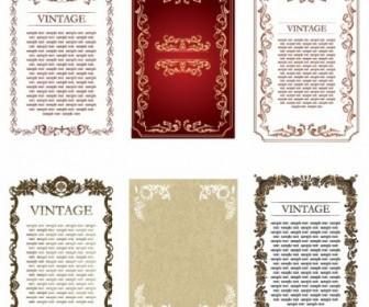 Vintage Frames Vector Decoration