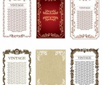 Vintage Frames Vector Decoration