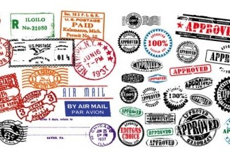 Foreign Stamp Postmark Vector Graphics