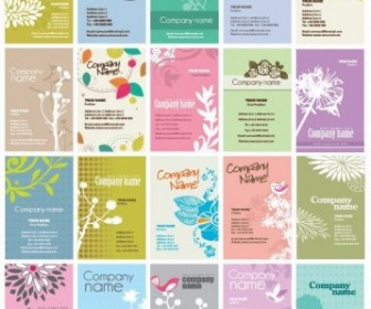 Vector Set Of Floral Business Cards Vector Templates