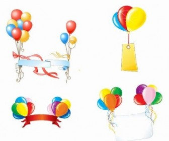 Beautiful Party Balloons Vector Pack