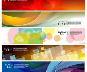 Vector Set Horizontal Banner