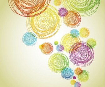Abstract Pencil Scribble Vector Background