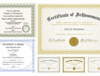 Six Certificate Design Vector illustration