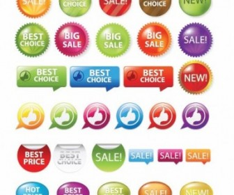 Sale Shopping Tags and Signs Vector Pack