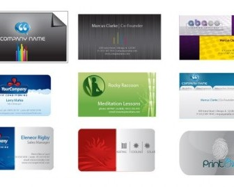Business Card Templates Vector Banner Design